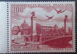 R1319/173 - 1949 - PARIS - N°28 NEUF** - LUXE - BdF - Aéreo