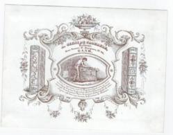 1 Carte Porcelaine   Relieur  A. Geens De Croebele  Rue Neuve St. Jacques Gand  Lith. Van De Steene - Ansichtskarten