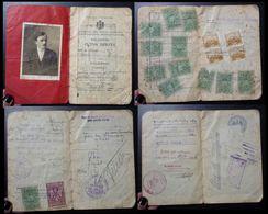 Yugoslavia C1926 Slovenia Croatia Vintage Expired Passport Revenue Stamps Canada Austria BP44 - Old Paper