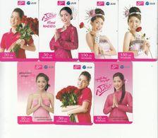 7 X Thailand Phonecard 12Call - Sawasdee Thai - Nice Lady`s - Thaïlande