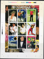 Guinea 1998, XXth Century, Diana, Space, Golf, Judo, Cricket, Eclipse, Concorde, CROMOLITE - Golf