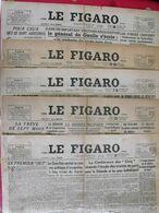 5 N° Du Journal Le Figaro De 1945. Japon Hanoï Reichstag Georges Duhamel Mauriac Gauleiter D'aalsace Laval Leclerc - Journaux - Quotidiens