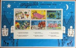 Anguilla 1976 Christmas Minisheet MNH - Anguilla (1968-...)