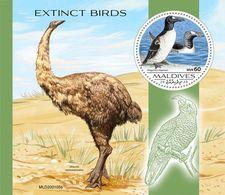 MALDIVES 2020 - Extinct Penguins S/S. Official Issue [MLD200105b] - Pingouins & Manchots