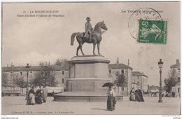 LA ROCHE SUR YON PLACE D'ARMES ET STATUE DE NAPOLEON 1918 - La Roche Sur Yon