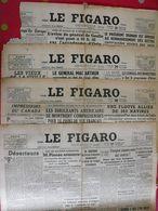 4 N° Du Journal Le Figaro De 1945. De Gaulle Pineau Indochine Palestine Déserteurs épuration Le Coz Mac Arthur Truman - Journaux - Quotidiens