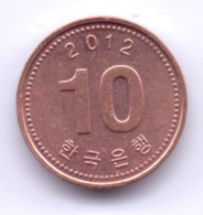 S KOREA 2012: 10 Won, KM 103 - Korea (Zuid)