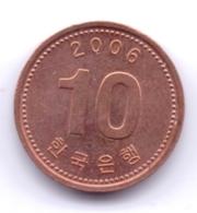 S KOREA 2006: 10 Won, KM 103 - Korea (Zuid)