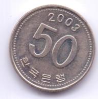 S KOREA 2003: 50 Won, KM 34 - Korea (Zuid)