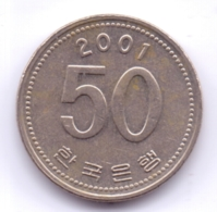S KOREA 2001: 50 Won, KM 34 - Korea, South