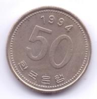 S KOREA 1994: 50 Won, KM 34 - Korea, South