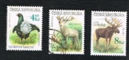 REP. CECA (CZECH REPUBLIC) - SG 188.190 - 1998 ENDANGERED  ANIMALS -   USED - República Checa