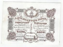 1 Carte Porcelaine Ferblantier Blekslager A. Quaesaet - De Jonge Zaegskes Voor Aerdappelbloem Te Fabriceren - Ansichtskarten