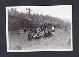 Photo Originale Snapshot Scene De Bizutage étudiants à Institut Commercial De Nancy ICN 1948 étudiants Mains Liées Foret - Lieux