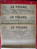 3 N° Du Journal Le Figaro De 1945. De Gaulle Argentine Peron Quisling Capitulation Japon Mauriac Siegfried - Journaux - Quotidiens