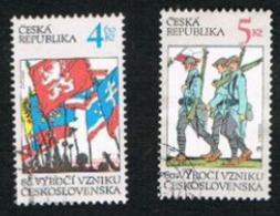 REP. CECA (CZECH REPUBLIC) - SG 204.205  - 1998 CZECHOSLOVAK REPUBLIC ANNIVERSARY -   USED - República Checa
