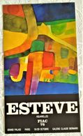 AFFICHE ANCIENNE ORIGINALE EXPOSITION ESTEVE AQUARELLES FIAC 1978 GRAND PALAIS PARIS - Old Paper