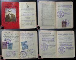 Yugoslavia C1927 Slovenia Croatia Vintage Expired Passport Revenue Stamps Canada Austria BP46 - Old Paper