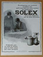 """1928 Solex Goudard & Mennesson Neuilly-sur-Seine (carburateur) - Parfums D'Orsay """"Le Dandy"""" - Publicité - Old Paper"""