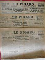 3 N° Du Journal Le Figaro De 1946. Berlin Bromberger Guermantes Clara Petacci Hanoï Nuremberg Streicher De Gaulle - Journaux - Quotidiens
