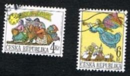 REP. CECA (CZECH REPUBLIC) - SG 219.220  - 1998 CHRISTMAS (COMPLET SET OF 2)  -   USED - República Checa