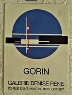 AFFICHE ANCIENNE ORIGINALE EXPOSITION GORIN 1977 Galerie Denise René PARIS - Old Paper