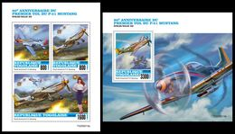 TOGO 2020 - P-51 Mustang. M/S + S/S. Official Issue. [TG200213] - Airplanes