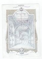 1 Carte Porcelaine   Hommage à Messieurs Les Membres De La Concorde 1845 Par Les Garçons De La Sociëté  Gand - Ansichtskarten