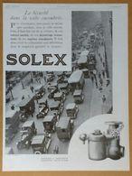 "1928 Solex Goudard & Mennesson Neuilly-sur-Seine (carburateur - Photo ""Intransigeant"") - Orfèvrerie Perrin - Publicité - Old Paper"
