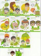 12 X Thailand Phonecard 12Call - Zodiac Kompl. RaR - Thaïlande