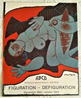 AFFICHE ANCIENNE ORIGINALE LITHOGRAPHIQUE EXPOSITION FIGURATION DEFIGURATION CORNEILLE 1982 Galerie ABCD PARIS Nu - Old Paper