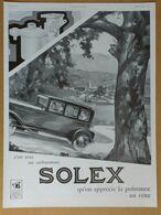 1929 Solex D'après Léon Fauret (Carburateur Goudard & Mennesson Neuilly-sur-Seine) - Duco Laque émail... - Publicité - Old Paper