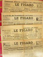 4 N° Du Journal Le Figaro De 1948. Louis Jouvet Inde Jules Moch Siegfried Schumann De Gaulle - Journaux - Quotidiens