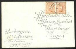 Belgique - Obl.fortune 1919 - N°135 (paire) Sur Carte De BURGHT à Havelange - Cachet Année Gratté - Non Classificati