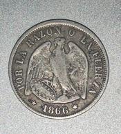 20 Centavos 1866 Argent - Chili