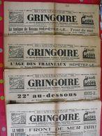 4 N° Du Journal Gringoire De Janvier-février 1940. Guerre Henriot Dorgelès Blum Recouly Carbuccia Roger Roy - Journaux - Quotidiens