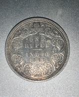 ONE RUPEE ARGENT 1862 TTB - Inde