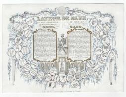 1 Carte Porcelaine   Magazijn V Alle Soorten Van Ijzerwerk  Fer  Lateur De Beke  In Den Mooriaen Gent Lith. G. Jacqmain - Porzellan