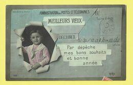 * Fantaisie - Fantasie - Fantasy * (Aéro, Nr 560) Télégramme, Poste, Mailleurs Voeux, Par Dépeche Bons Souhaits, Enfant - Postcards
