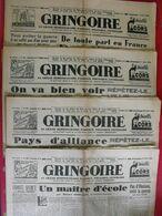 4 N° Du Journal Gringoire De Février-avril 1940. Guerrehenriot Dorgelès Fabry Roger Roy Beraud Recouly - Journaux - Quotidiens