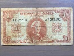 1 Gulden Banknote 1945 Netherlands Holland Old Collectible Paper Money WWII - Paesi Bassi