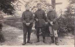 Armée Belge - Carte Photo - Trois Soldats - Unité à Déterminer - Pas Circulé - BE - Regimente