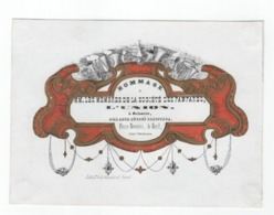 Carte Porcelaine Hommage Société Des Fanfares L'UNION  ZELSAETE Muziek Music Musique  Litho.Hemelsoet C1850 Zelzate - Ansichtskarten