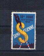 Vignette 10e Foire De Saint Etienne 18-29 Septembre 1958 - Erinnophilie