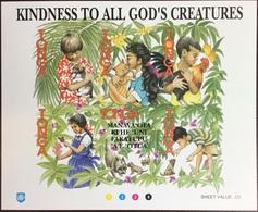 Tonga 1994 All God's Creatures Birds Butterflies Animals Flowers Minisheet MNH - Tonga (1970-...)
