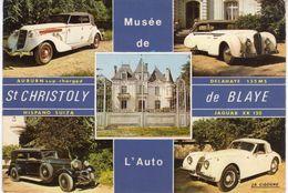 < Automobile Voiture Auto Car >> Jaguar XK 120, Delahaye 135 MS, Musée De L'Auto, St Christoly De Blaye - Postcards
