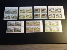 K33299  -  Stamps  In Bloc Of 4  MNH Austria - Osterreich 1990 - 1997 -  Scenery's - 1945-.... 2ème République