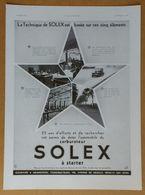 1934 Solex D'après Lupa (Carburateur Goudard & Mennesson Neuilly-sur-Seine) - High Life Tailor - Kestos - Publicité - Old Paper