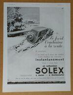 1934 Solex D'après Lupa (Carburateur Goudard & Mennesson Neuilly-sur-Seine) - Vedette Le Carillon De France - Publicité - Old Paper