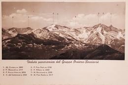 Cartolina - Veduta Panoramica Del Gruppo Orsiera - Rocciavrè - 1930 Ca. - Italy